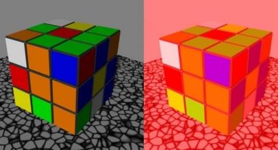 Color Cube Illusion